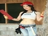 Hot Construction Babe