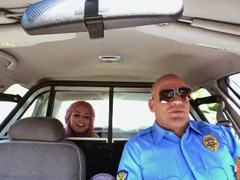 Slutty blonde babe Aidra Fox gets banged on camera for a ride